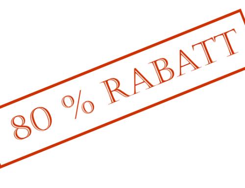 Bis zu 80% sparen – Gebühren runter